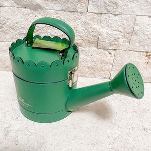 Kate Spade Watering Can Clutch in Sprout Green